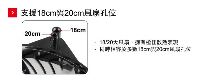 ENERMAX巨炫阿波力斯18cm風扇